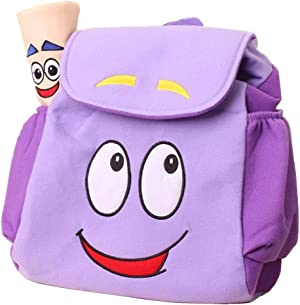 Dora Explorer Backpack Rescue Bag with, Purple, Size 10