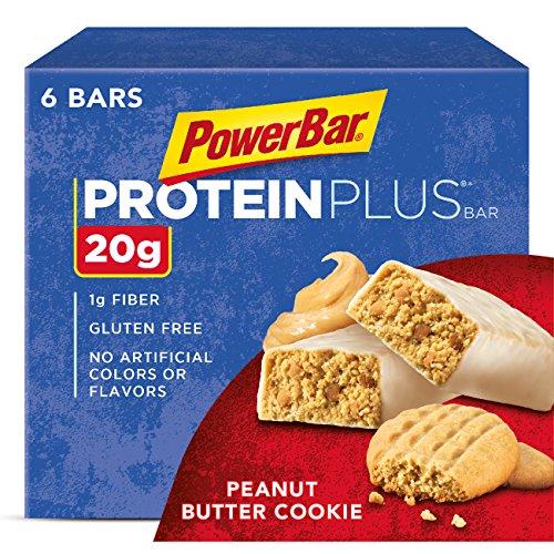 PowerBar Protein Plus Bar, Peanut Butter Cookie, 2.29 oz Bar, (6 Count)