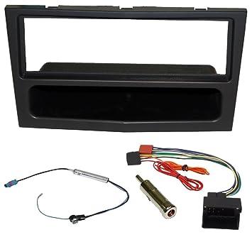 Noir Aerzetix C4640 Adaptateur Autoradio 2 DIN Façade Cadre Réducteur pour Auto Voiture Auto et Moto