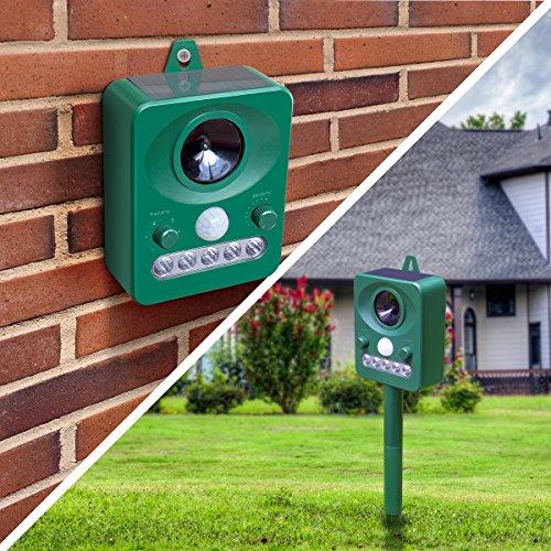 Animal Pest Repellent, Tekitsfun Outdoor Solar Electronic