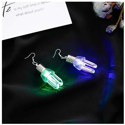 3c966a6c0f392 Amazon.com: Wenini Colorful Luminous Bulb Earrings, 1Pair Fashion ...