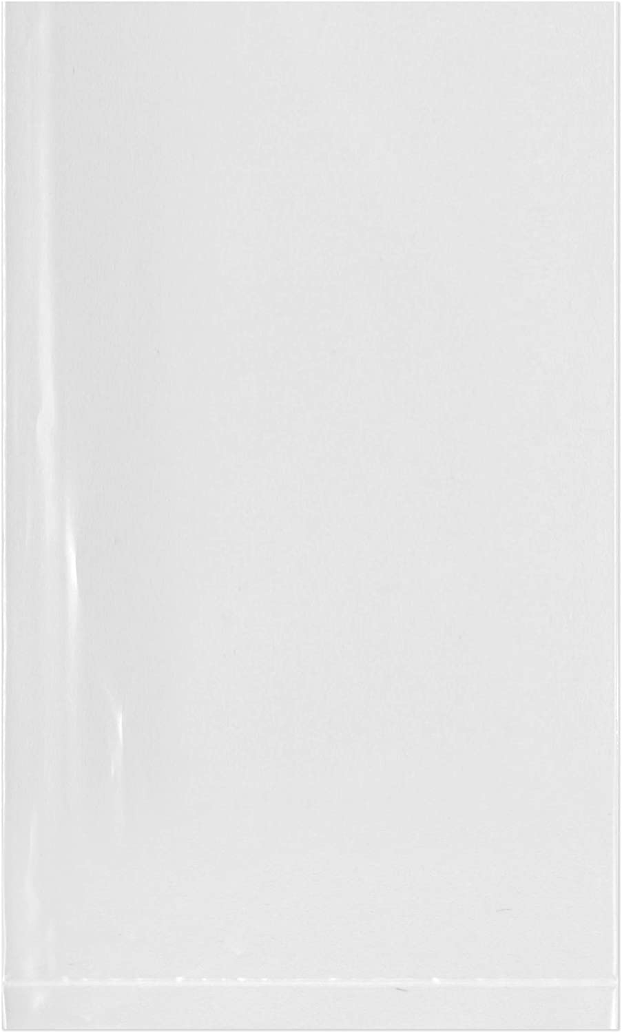 Plymor Flat Open Clear Plastic Poly Bags, 3 Mil, 3