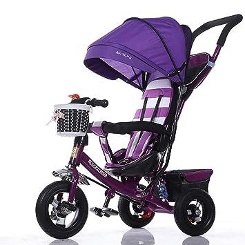 GHDE& 3 en 1 Triciclo para niños Niños Trike para niños con Dosel ...