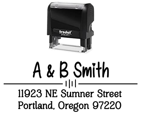 amazon com self inking custom stamps 3 lines large size color