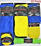 10pc Ultimate Car Cleaning Kit, Home Cleaning Kit,- Car Wash Microfiber Towels and Auto Detailing Accessories- Premium Grade Microfiber cleaning kit (Set of 10)