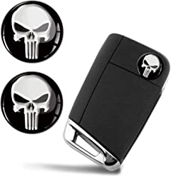3D Metal Punisher Skull Keyring Key Chain Gift Men Women Keychain Giftbox KK 255