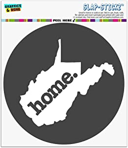 Graphics and More West Virginia WV Home State Solid Dark Gray Grey Officially Licensed Automotive Car Window Locker Circle Bumper Sticker