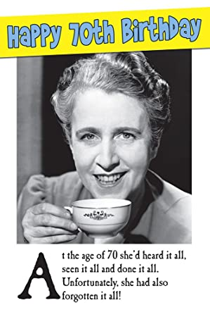 70th humorous forgotten female birthday card amazon office 70th humorous forgotten female birthday card bookmarktalkfo Gallery