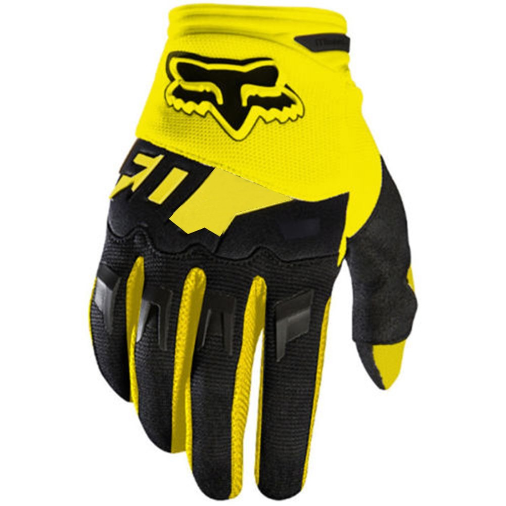 ShiningLove Full Finger Cycling Gloves Outdoor Sports Anti Skid Wear Resistance Breathable Gloves Unisex Racing Motorcycle MTB Bike Gloves Yellow S