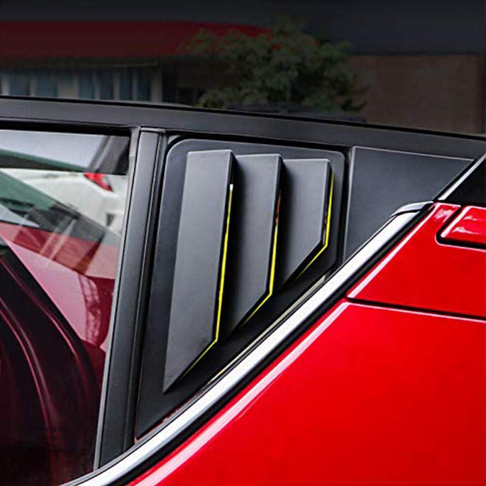 ABS Carbon Fiber Compatible for C-HR 2016-2020 Car Accessories Rear Window Scoop Louvers Cover Trims 2PCS