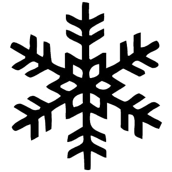 Amazoncom Snowflake White Sticker Decal Snow Winter Ice Crystal - Snowflake window stickers amazon