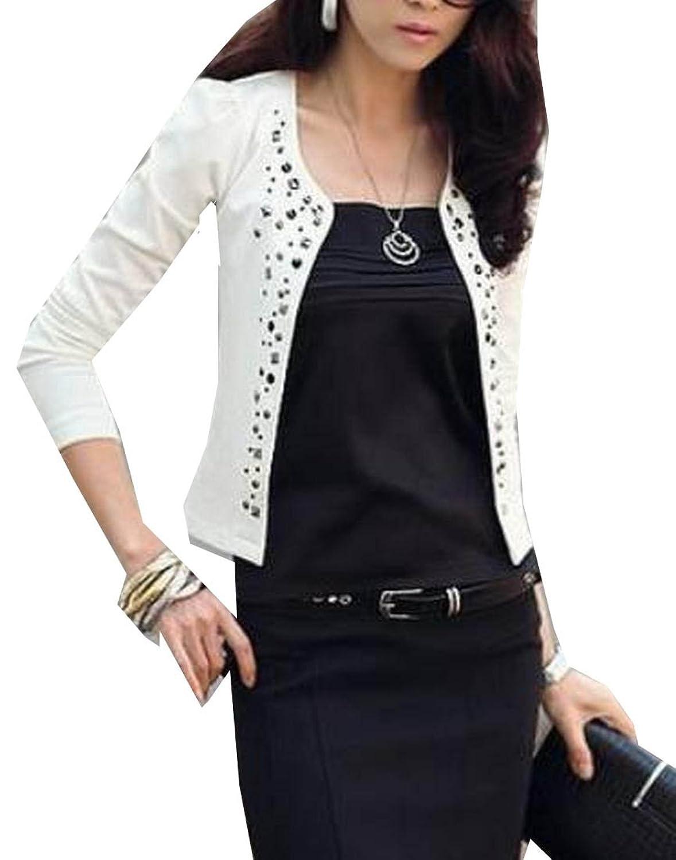 Comfy Women Slim Fit Bodycon Open Front Short Suit Overcoat
