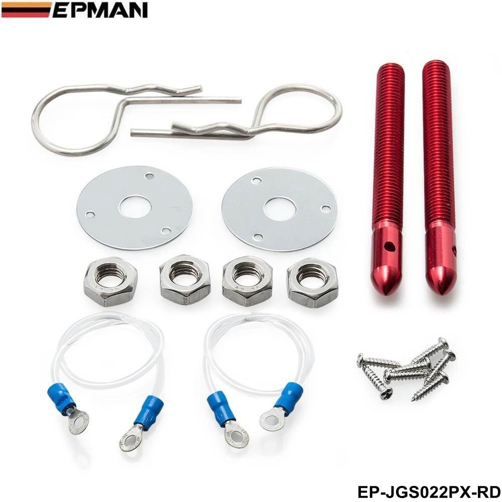 EPMAN Universal Sport Hair Pin Style Hood Pin Locking Kit With Lanyard (Red, Pack Of 1) RUIAN EP INTERNATIONAL TRADE CO. LTD