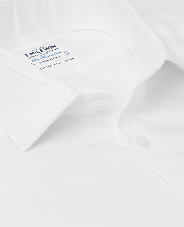 1e9cc8c1 T.M.Lewin Super Fitted White Luxury Twill Shirt: Amazon.co.uk: Clothing