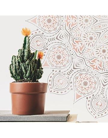 TODO STENCIL Home Decor Rosetón 012 Mandala, Medidas: Stencil 50 x 50 cm -