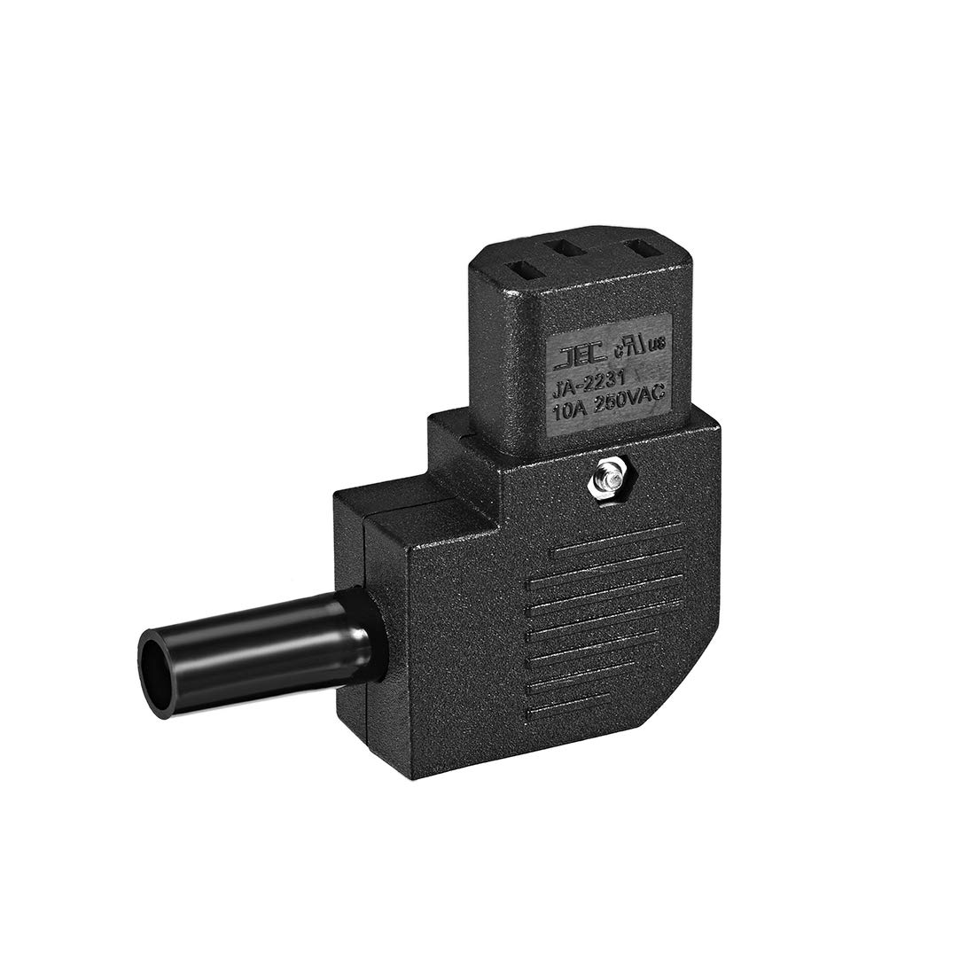 uxcell AC110-250V 10A Female IEC320 C13 Power Socket Adapter Connector Right Angle 2 Pcs
