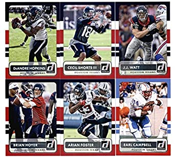 2e6c9a1bcc1 2015 Donruss Football Houston Texans Team Set of 6 Cards: Earl Campbell,  Brian Hoyer