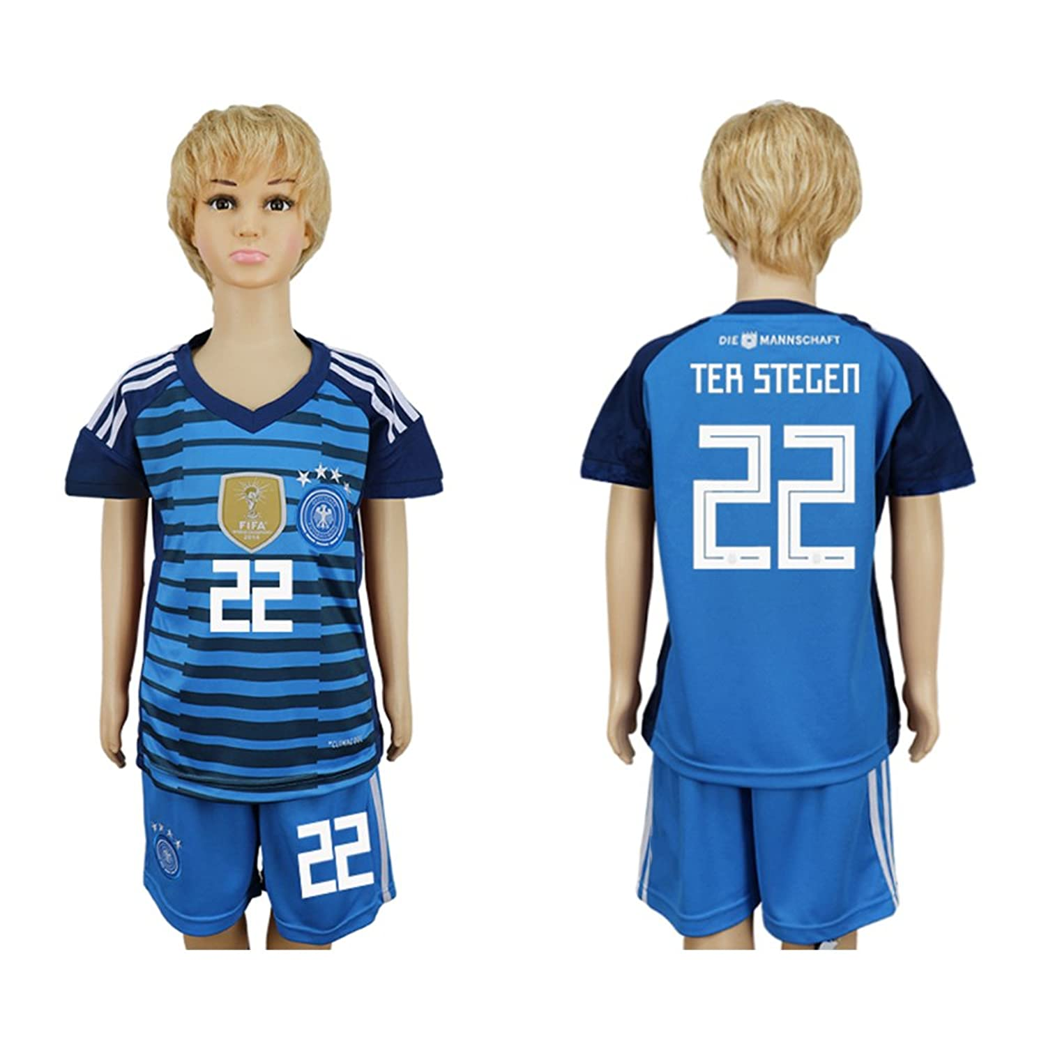 Soc.Meku SHIRT ボーイズ B07B7HPFLDブルー 28# (12 to 14 Years Old)