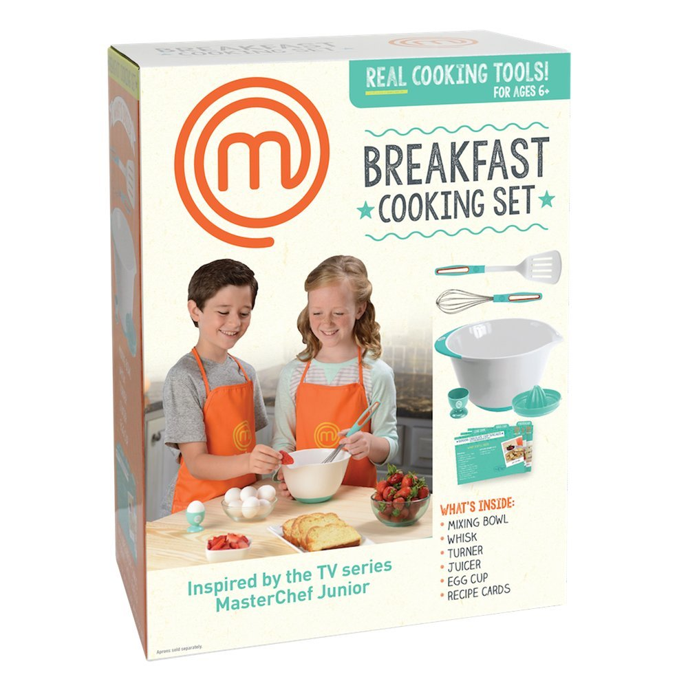 MasterChef Junior Breakfast Cooking Set - 6 Pc Kit Includes Real Cooking Tools for Kids and Recipes by MasterChef Junior (Image #2)