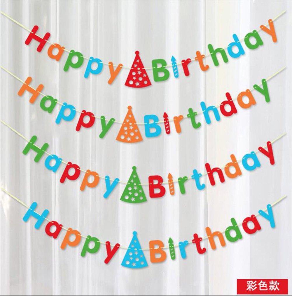 Hosaire Banner rustico in lettere di cartone di buon compleanno - Decorazioni per feste di compleanno di qualità premium(Rosso)