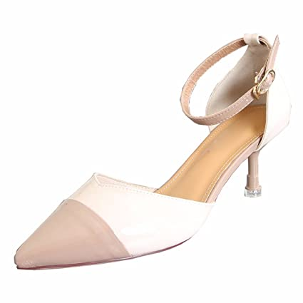 9c56a43f8c8 GTVERNH Women s shoe Temperament 6Cm High-Heeled Shoes Thin Heels Single  Shoes Spring And