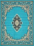 Cheap A2Z Rug Traditional Turquoise 10′ x 13′ Mashad Collection Area rug Perfect for any floor & Carpet