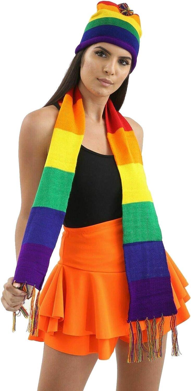 Abz Fashionz Bufanda unisex de orgullo gay, arcoíris, accesorio ...
