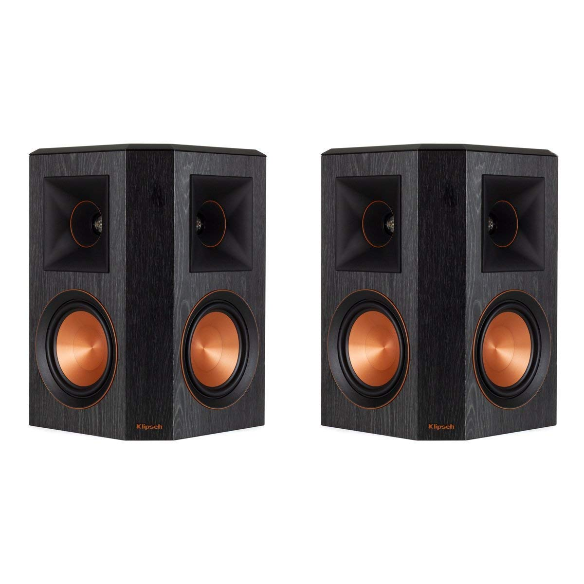 Klipsch Surround 5.1 Channel Set of 2 Home Theater Speaker System Ebony (RP-502S)