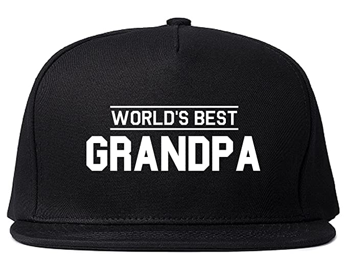 Worlds Best Grandpa Gift Mens Snapback Hat Black at Amazon Men s ... 276749c7a0c