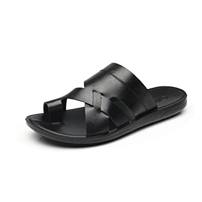 Comfortable Heel Mens Fashion Leather Sandals Open Faranzi Casual Strap Gladiator Of Outdoor Style Toe K3Fcl1TJ