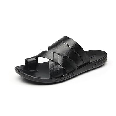 Sandals Style Strap Leather Of Faranzi Mens Casual Outdoor Fashion Gladiator Toe Heel Comfortable Open eWQrCxBdo