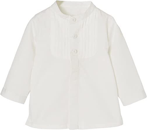 VERTBAUDET Camisa para bebé niño con Cuello Mao Blanco Claro ...