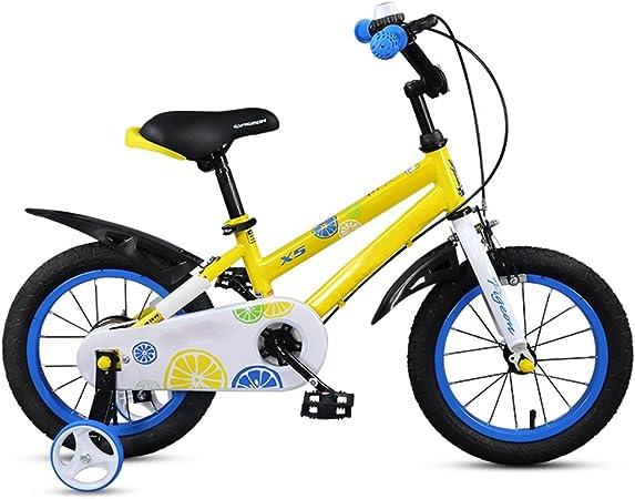 LVZAIXI Bicicleta roja y Amarilla Niño Niño 3-6 años Carro de bebé 14/16/18 Pulgadas Bicicleta para niños Bebé/niños Bicicleta (Color : 14 Inch-Yellow): Amazon.es: Hogar