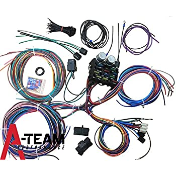 Amazon.com: 22 Circuit Universal Street Rod Wiring Harness w ... on ford f250 control module, ford f250 control box, hummer h2 wiring harness, ford f250 overdrive switch, ford f250 switches, ford f250 temp sensor, pontiac grand am wiring harness, ford f250 air filter housing, ford f250 distributor, ford f250 seat, ford f250 hub caps, ford f250 ignition module, ford f250 neutral safety switch, ford f250 electrical schematic, suzuki grand vitara wiring harness, ford f250 master cylinder, honda s2000 wiring harness, dodge ram 2500 wiring harness, kia sportage wiring harness, ford f250 fuel pressure regulator,