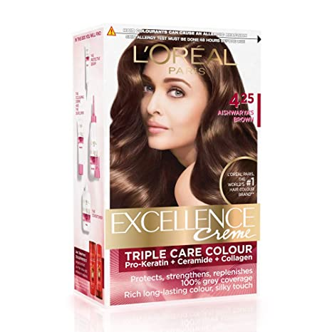 Buy L Oreal Paris Excellence Creme Hair Color 4 25 Aishwarya S