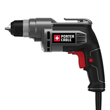 PORTER-CABLE Corded Drill, Variable Speed, 6-Amp, 3/8-Inch (PC600D)