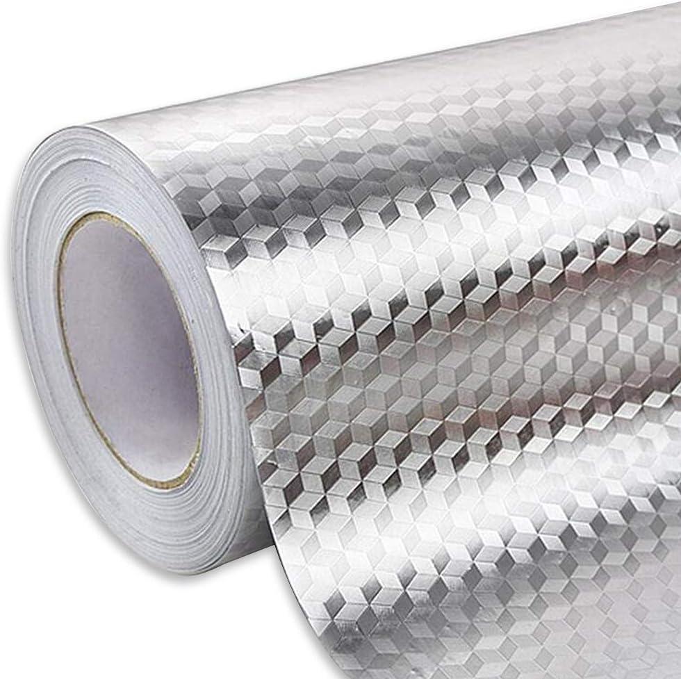 Ya Jin Adhesivo De Aluminio Resistente Al Aceite Para Cocina Armario Cajón Autoadhesivo Papel Pintado Amazon Es Hogar