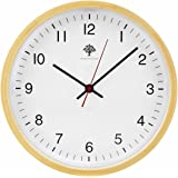 Hippih Silent Wall Clock Wood 8 Inch Non Ticking Digital Quiet Sweep Decorative Vintage Wooden Clock (white)