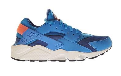 save off 63a43 fbc1e Nike Air Huarache Men s Shoes Gym Blue Photo Blue-Bright Mango-White 318429