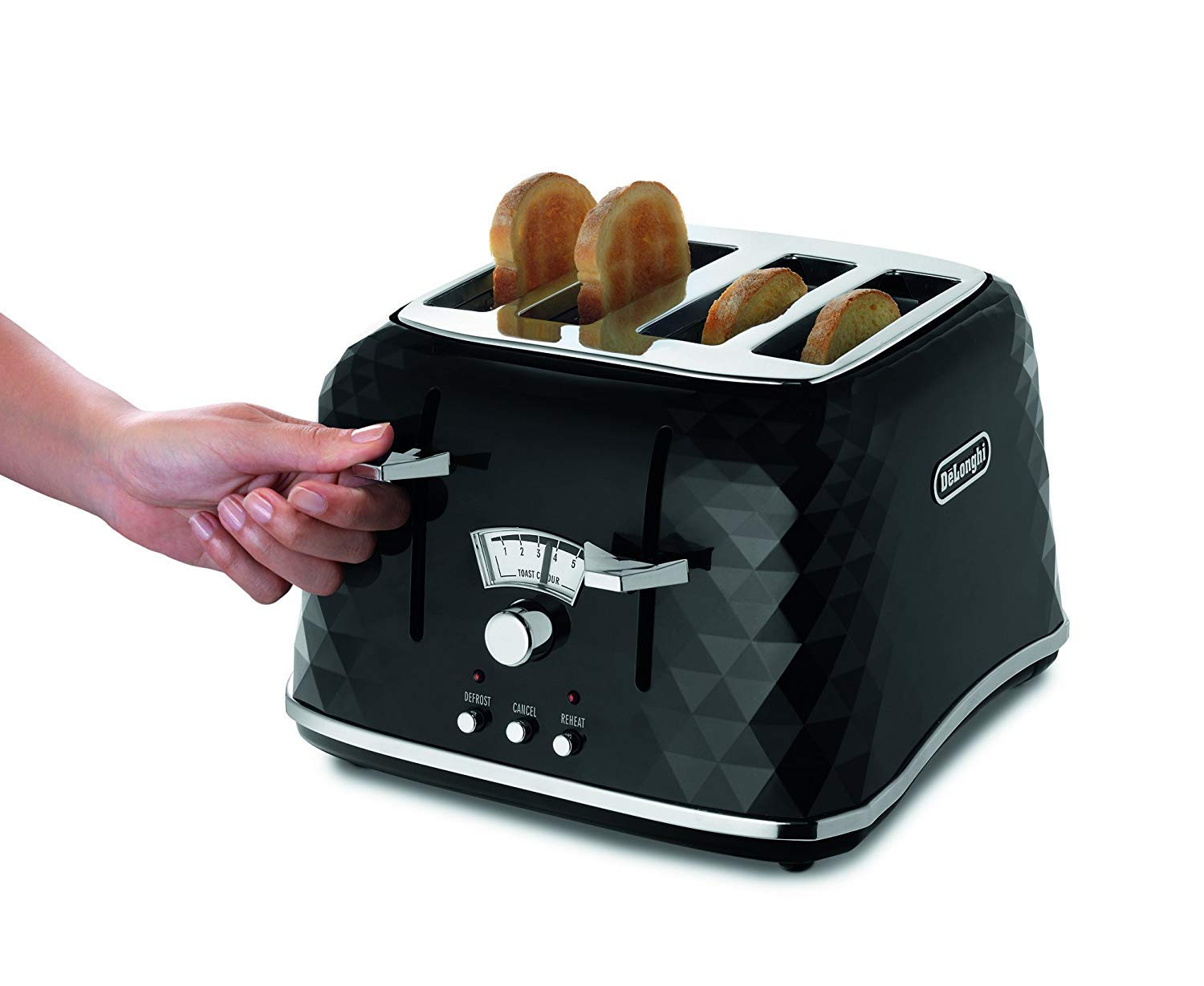 220-240 Hz 50-60 Hz, Delonghi CTJ4003.BK Brillante Toaster, FOR OVERSEAS USE ONLY, WILL NOT WORK IN THE US