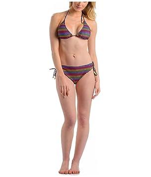 unverwechselbarer Stil neuartiger Stil online zum Verkauf Urban Beach Bikini Damen LSF 50+ - Nylon, Blau Streifen, 42 ...