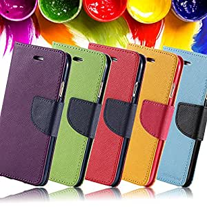 Colorful Youth PU Leather Case For iphone 6 4.7 inch Holders & Stands Wallet With Photo Card Slot Phone Cover RCD04176 --- Color:green