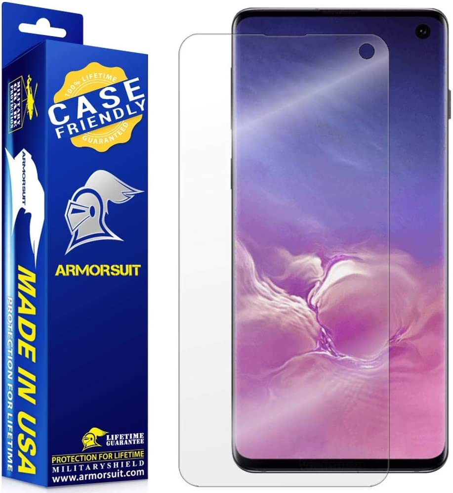 ArmorSuit MilitaryShield Screen Protector for Samsung Galaxy S10 (Case Friendly) Anti-Bubble HD Clear Film