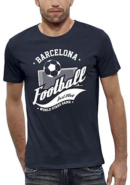 PIXEL EVOLUTION Camiseta 3D Futbol Barcelona de Realidad Aumentada Hombre - Talla XXL - Azul Marino