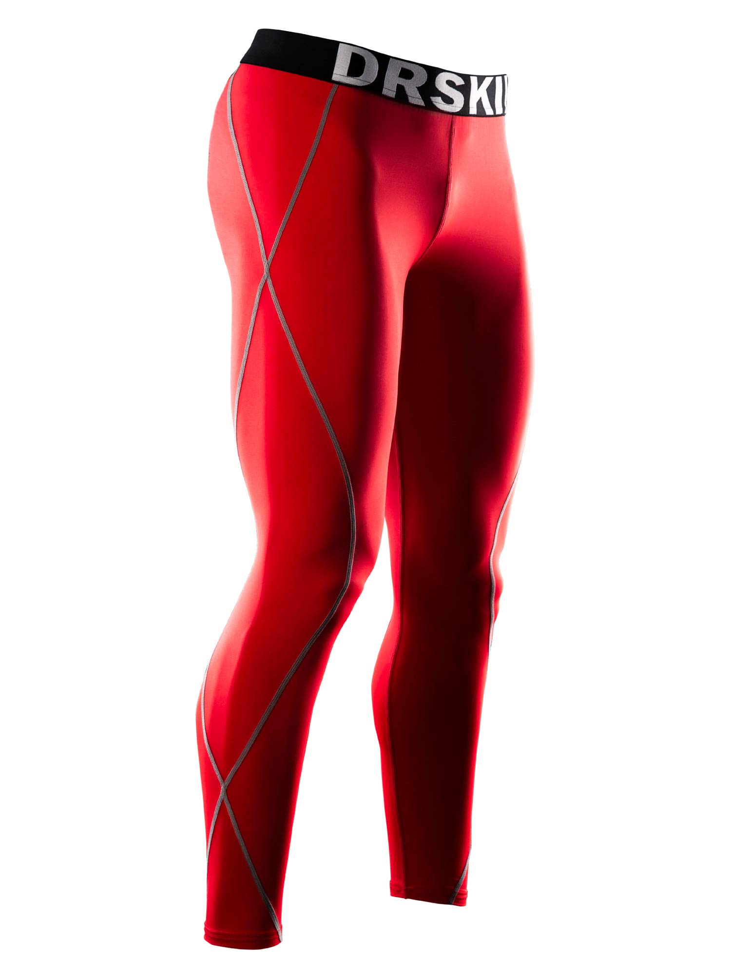 DRSKIN Compression Cool Dry Sports Tights Pants Baselayer Running Leggings Yoga Rashguard Men (DRG167, 4S)