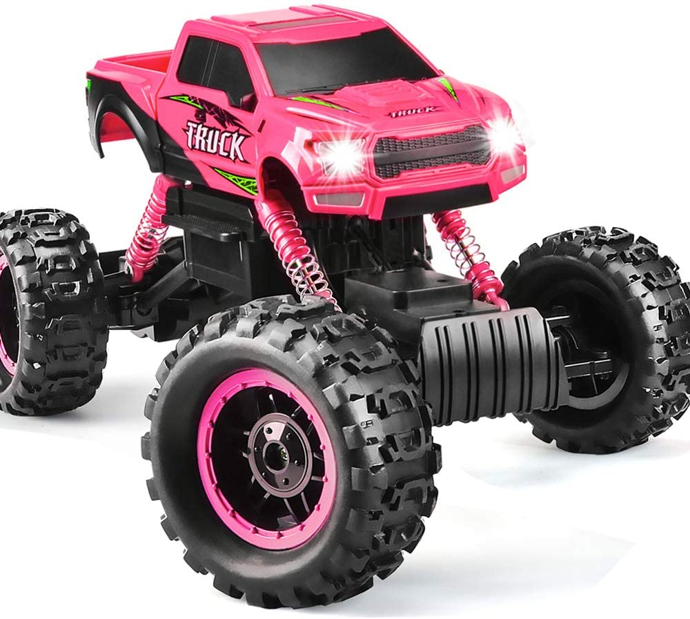 Amazon Com Double E Rc Cars Newest 1 12 Scale Remote Control Car With Rechargeable Batteries And Dual Motors Off Road Rc Trucks High Speed Racing Car For Kids Toys Games