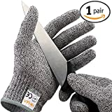 IEKACutResistantGloves,Level5ProtectionHighPerformanceFoodGrade CertifiedKitchen and Work Safety Lightweight Breathable and Extra Comfortable (Large)