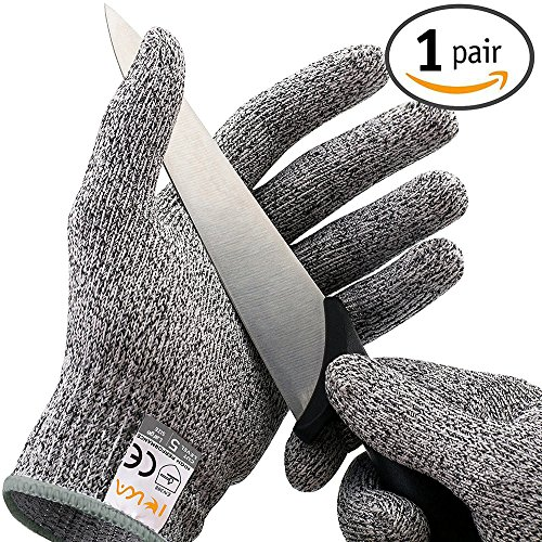 IEKA Cut Resistant Gloves Protection High Performance Food Grade Certified Kitchen Lightweight Comfortable