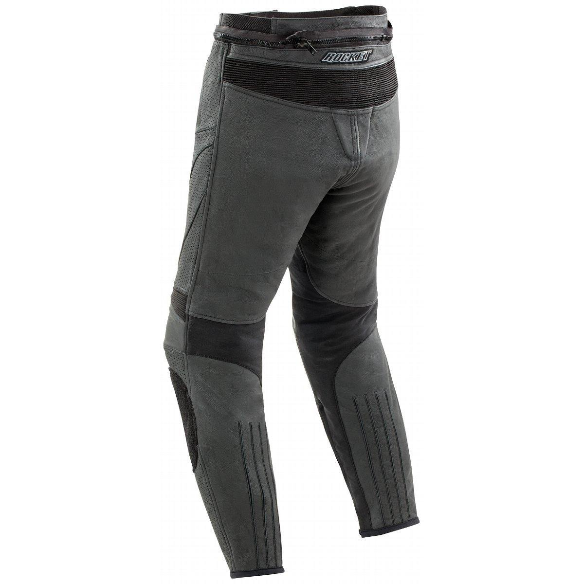 Joe Rocket Stealth Sport Mens Leather Perforated Motorcycle Pants Black, Size 34