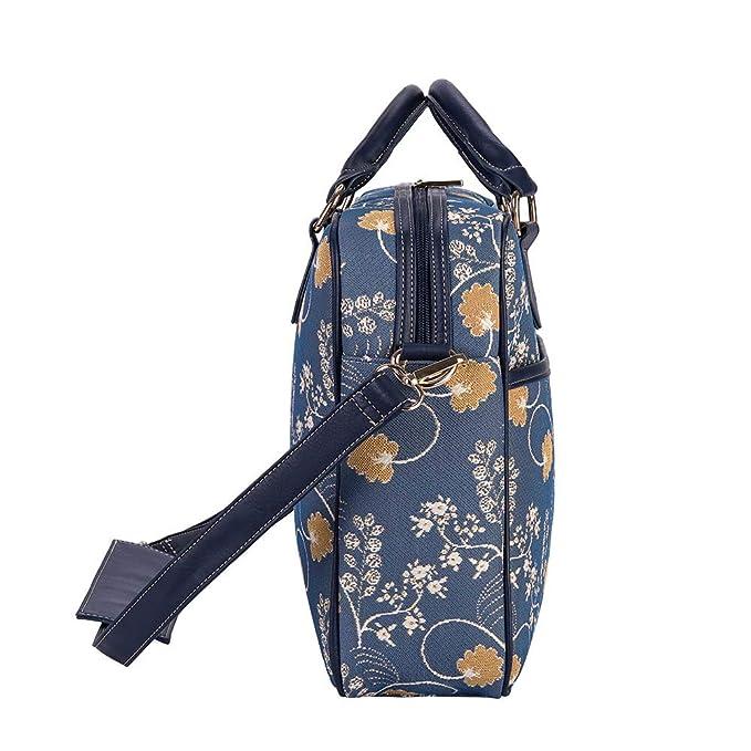 5aef5525a2d6 Amazon.com: Blue Floral Computer Bag for Women/Laptop Bag for Women ...